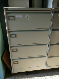 Storage Used 4 drawer metal filing cabinet