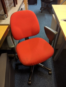Working Chairs Used red chair