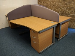 Desking Set of 4 Lee and Plumpton Wave Desks