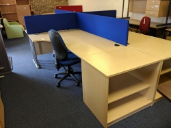 Desking Used crescent with storage