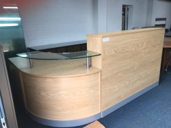 Reception Furniture Oak reception counter