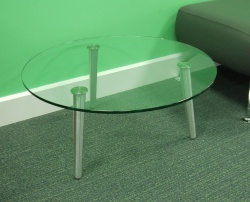 Breakout areas Glass coffee table