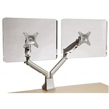 Gamma gas assisted monitor arm