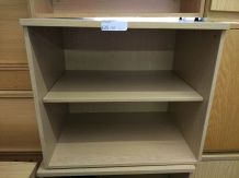 Used desk high bookcase