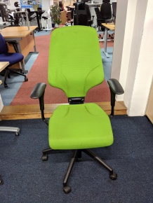 Used green operators chair