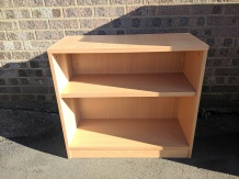 Used Beech Desk High Bookcase